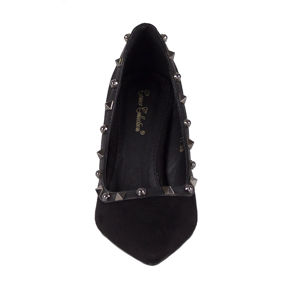 Pantofi de dama negri cu varf ascutit AH-11-B