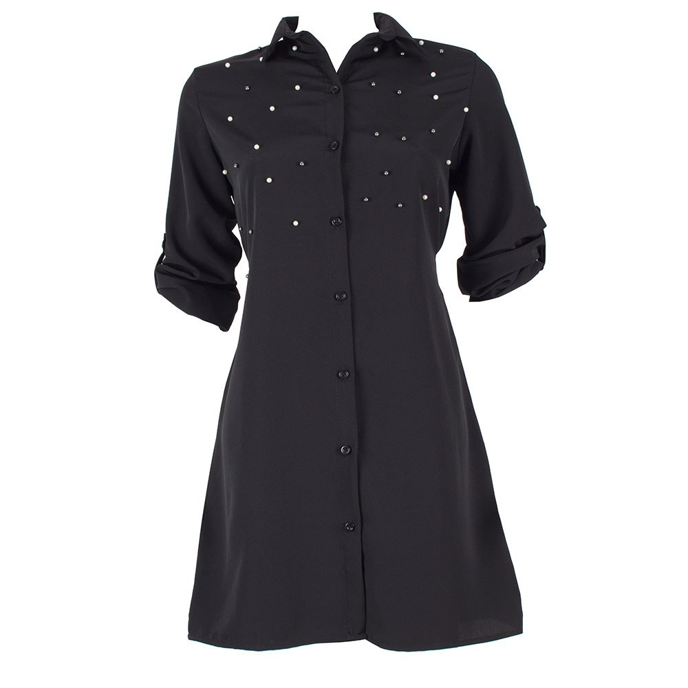 Tunica dama neagra decorata cu margele 140-2-N