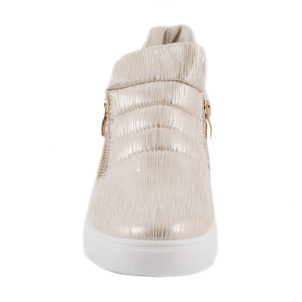 Sneakers dama cu fermoare laterale L-213-G