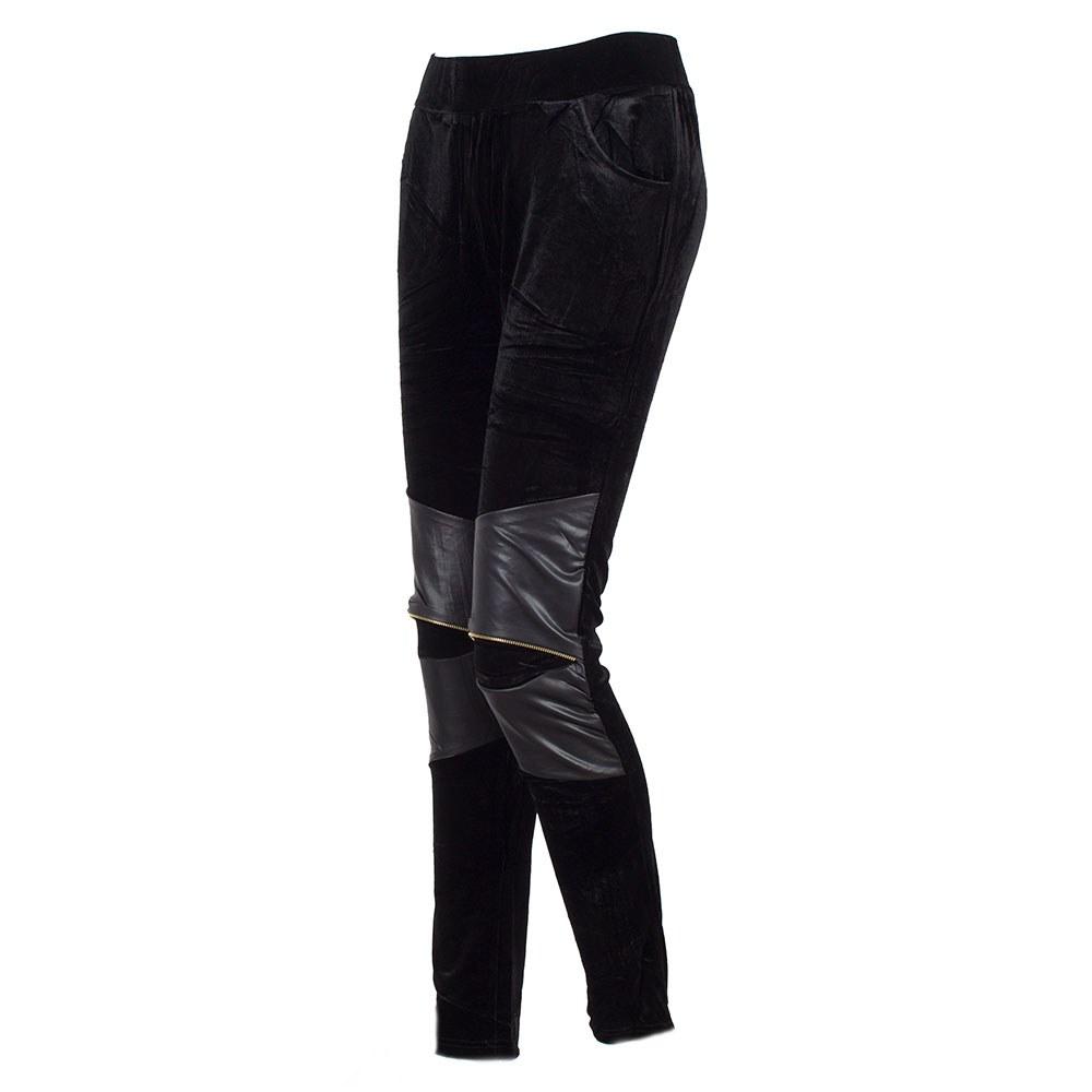 Colanti dama cu aplicatii pe genunchi si buzunare laterale F1-10-N