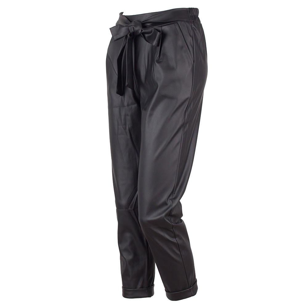 Pantaloni dama negri din vinil RC-560-N
