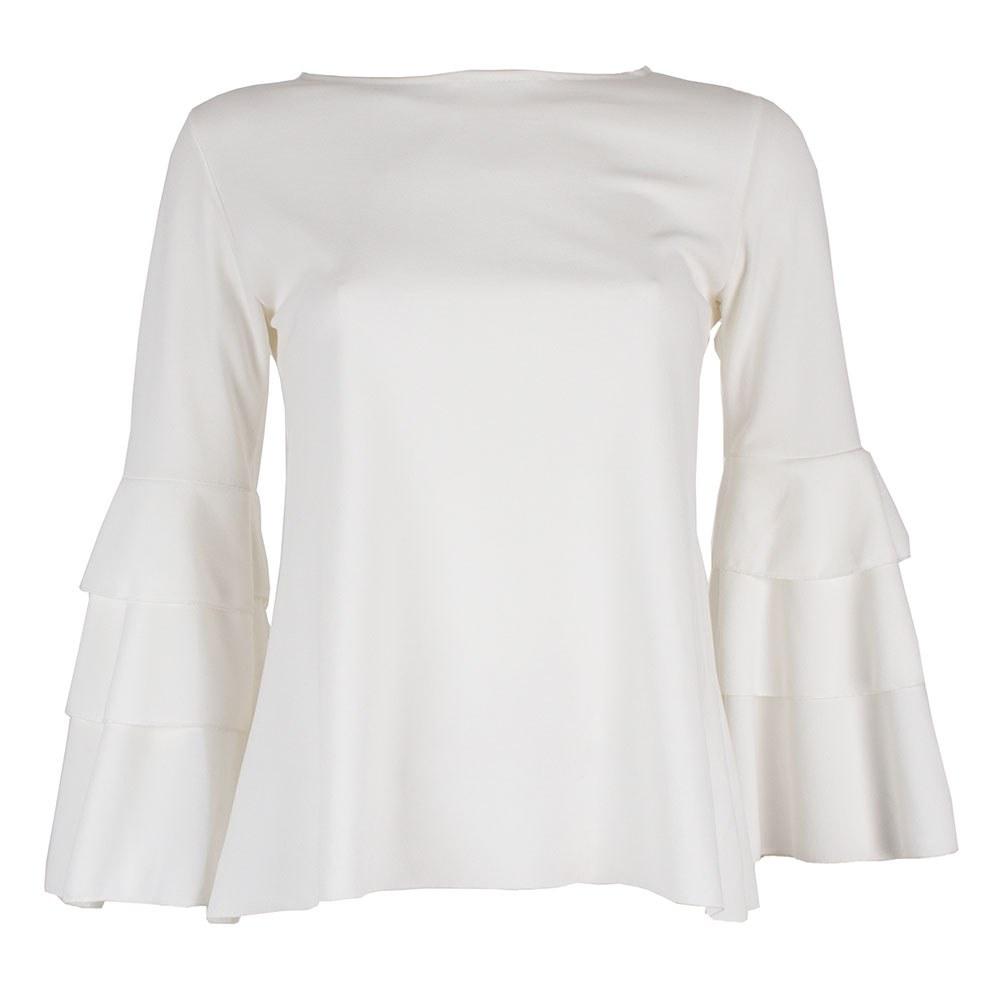 Bluza dama cu maneca clopot cu volane VQ-90-A