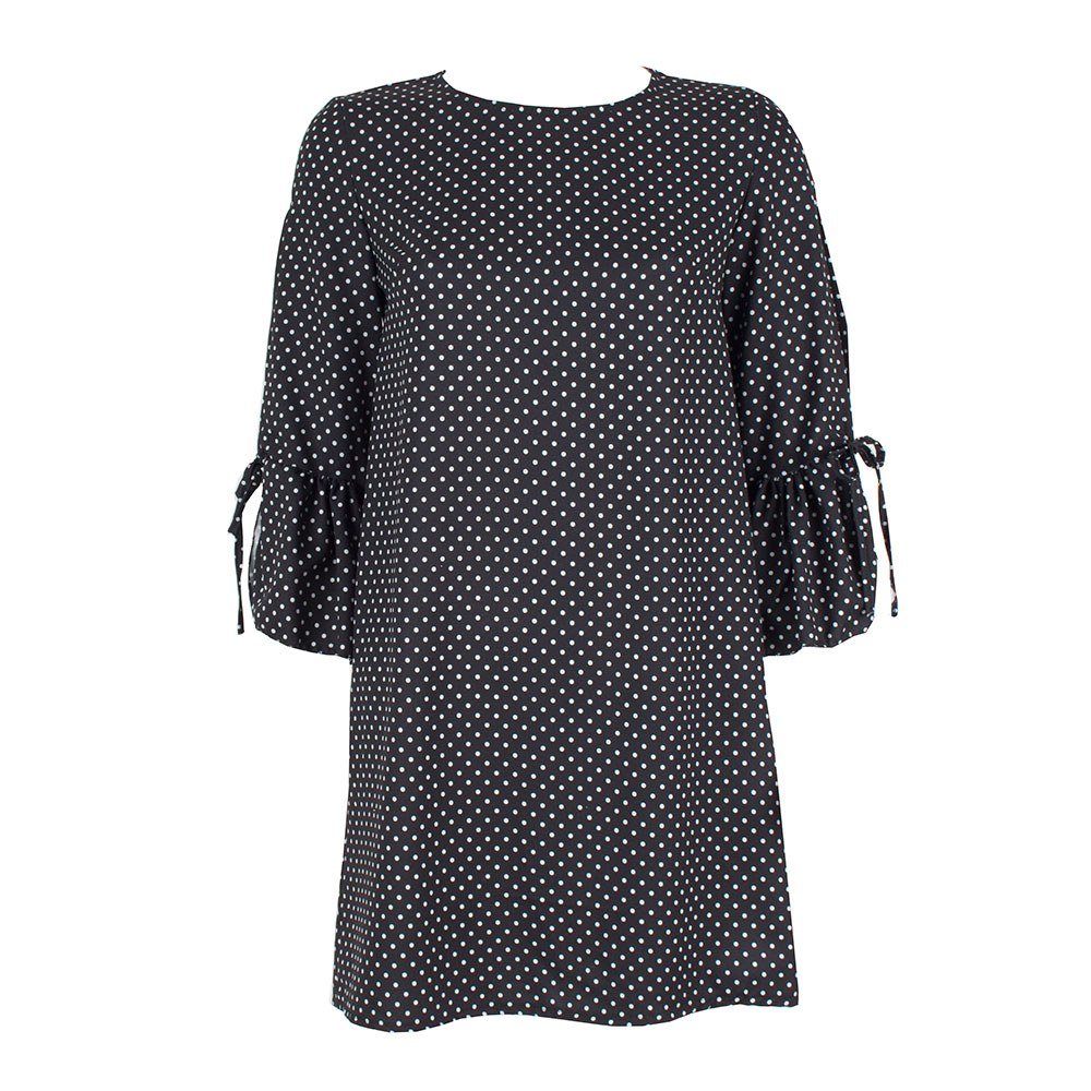 Rochie de dama neagra cu buline 8164-N