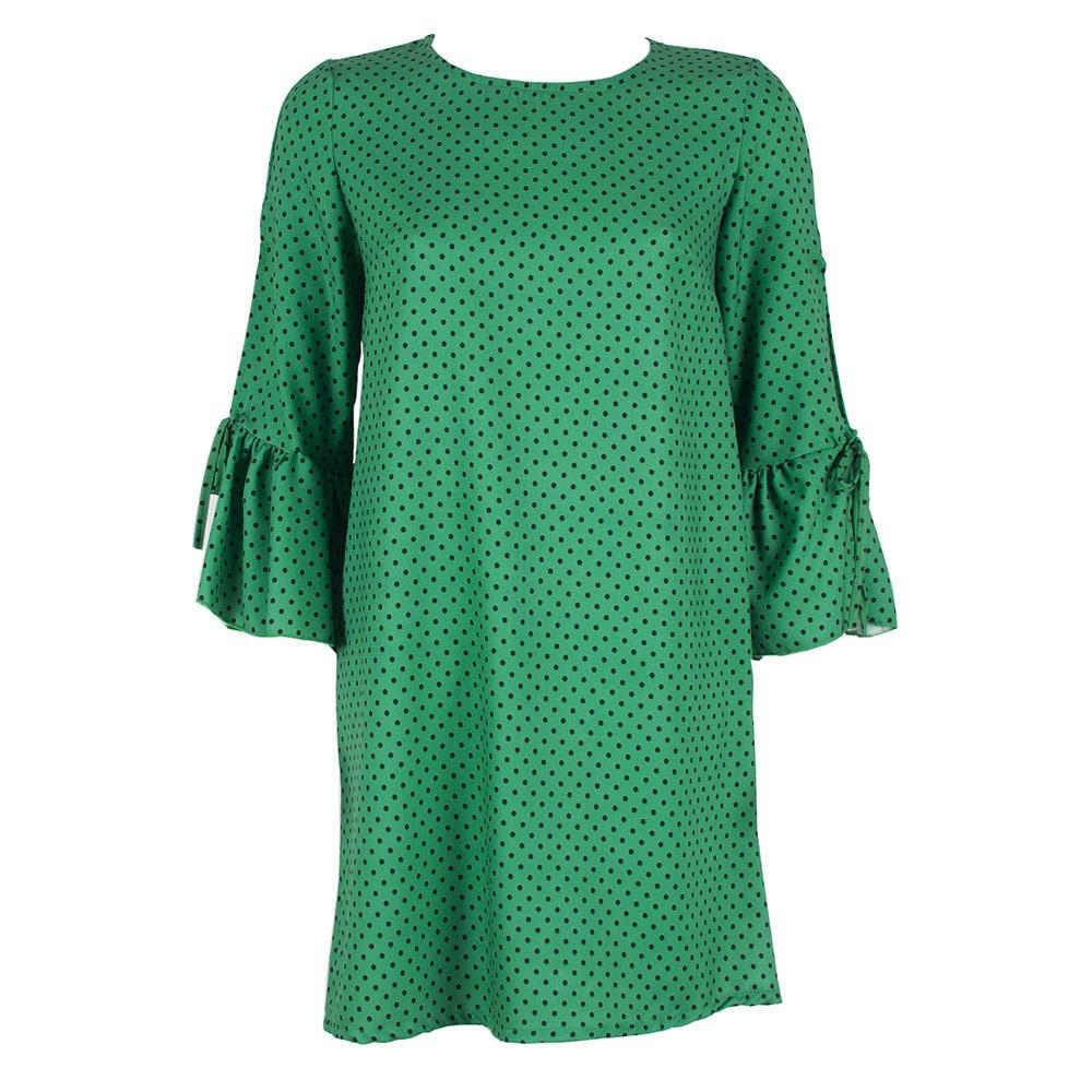 Rochie de dama verde cu buline 8163-V