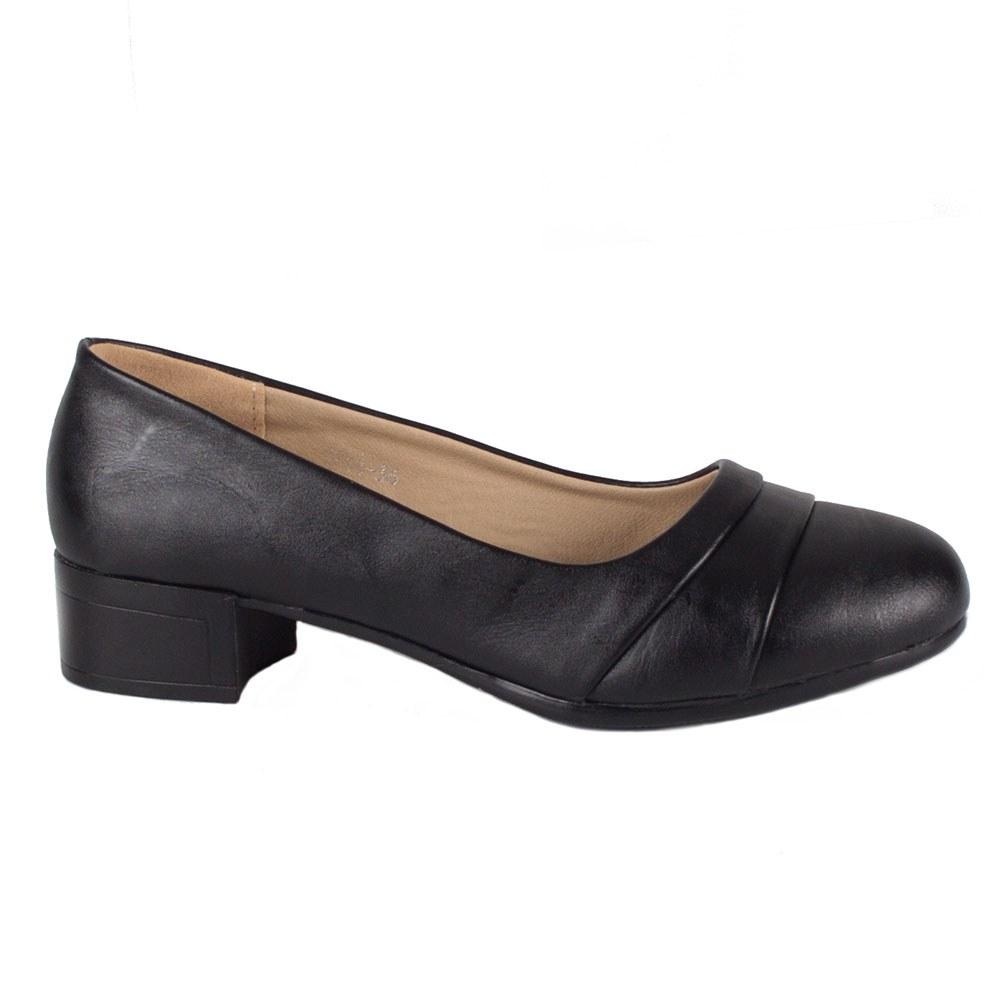 Pantofi dama negri cu toc mic 1711-N