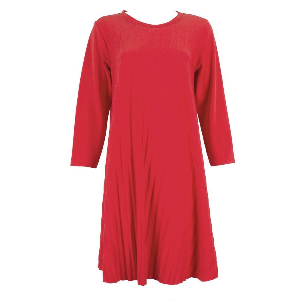 Rochie de dama plisata rosie 9525-6R