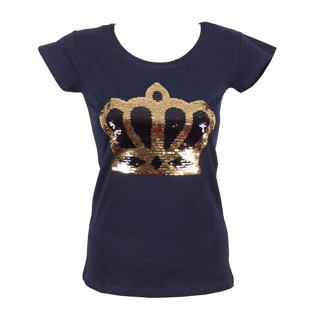Tricou dama bleumarin cu paiete aplicate TP-300-B