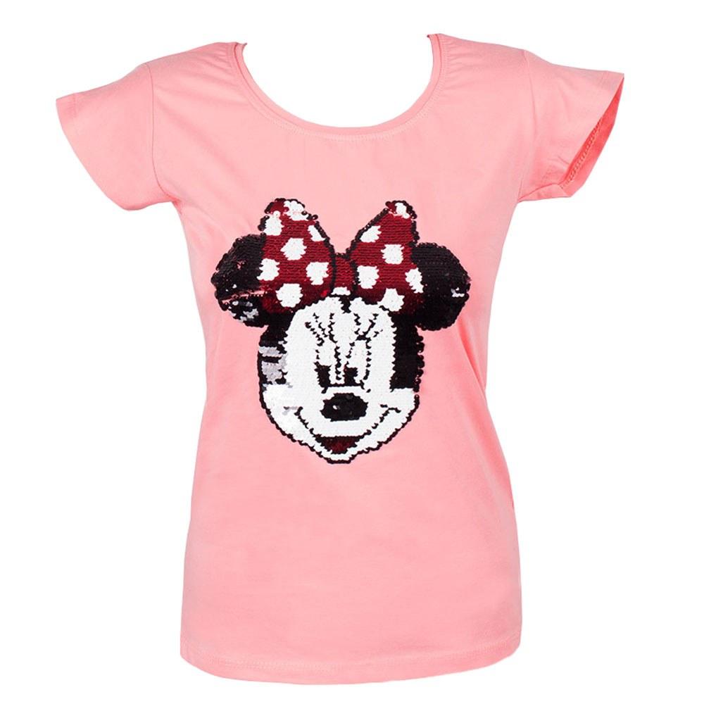 Tricou dama roz cu paiete model Minnie TP-318-R