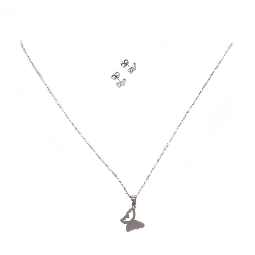 Set colier cu cercei JEW-3046-F