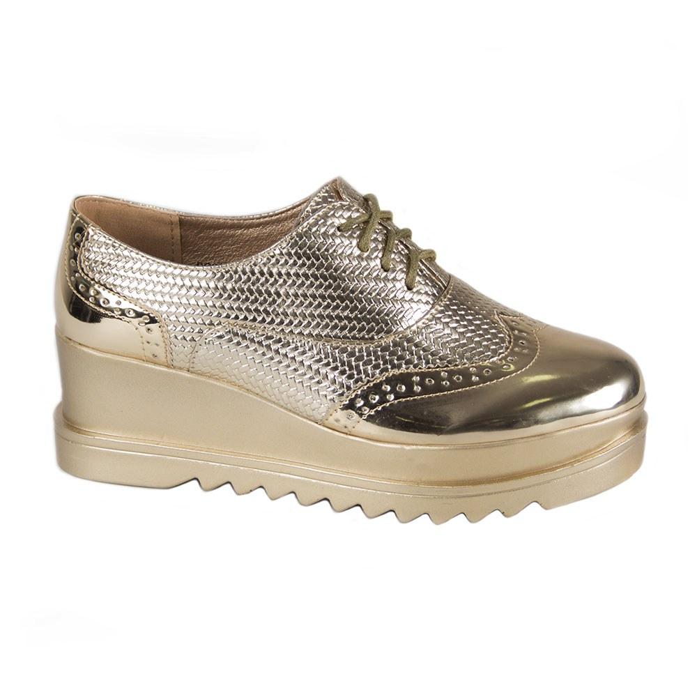 Pantofi dama casual cu platforma DQ050-G