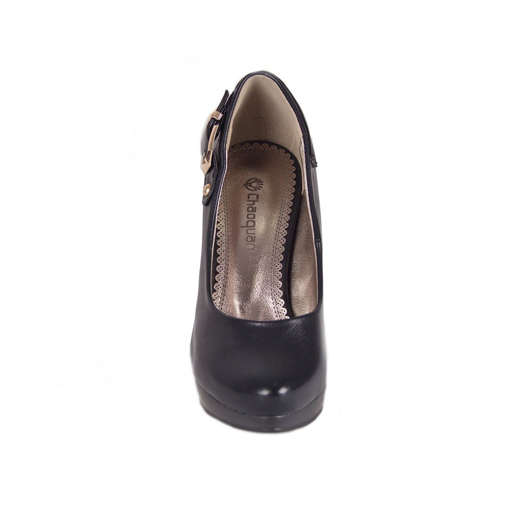 Pantofi de dama cu toc si catarama decorativa CQ6069