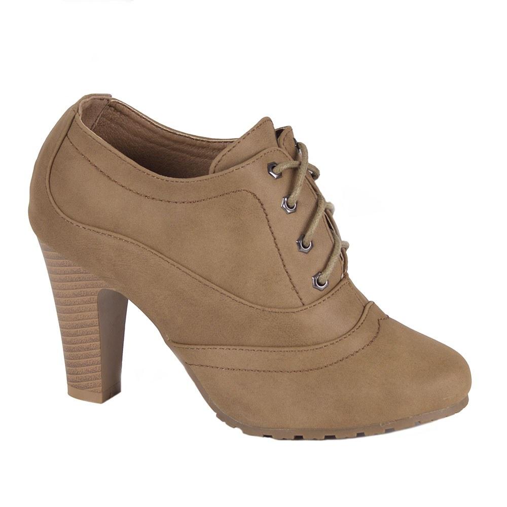 Pantofi de dama cu siret si toc inalt H-20-K