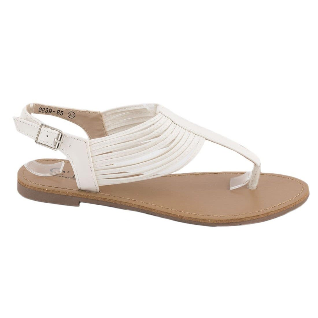 Sandale dama albe 8839-85A-O