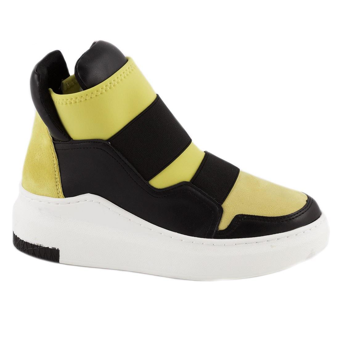 Sneakers de dama galbeni 6321-Y-O