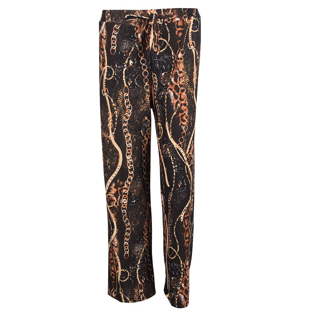 Pantaloni dama model larg cu imprimeu AP-2603-1