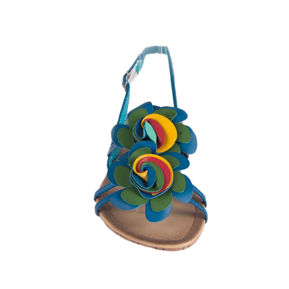 Sandale dama albastre cu barete 1-3040-B