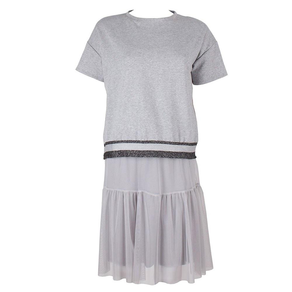 Set rochie dama din tul si bluza sport PNK-320-G