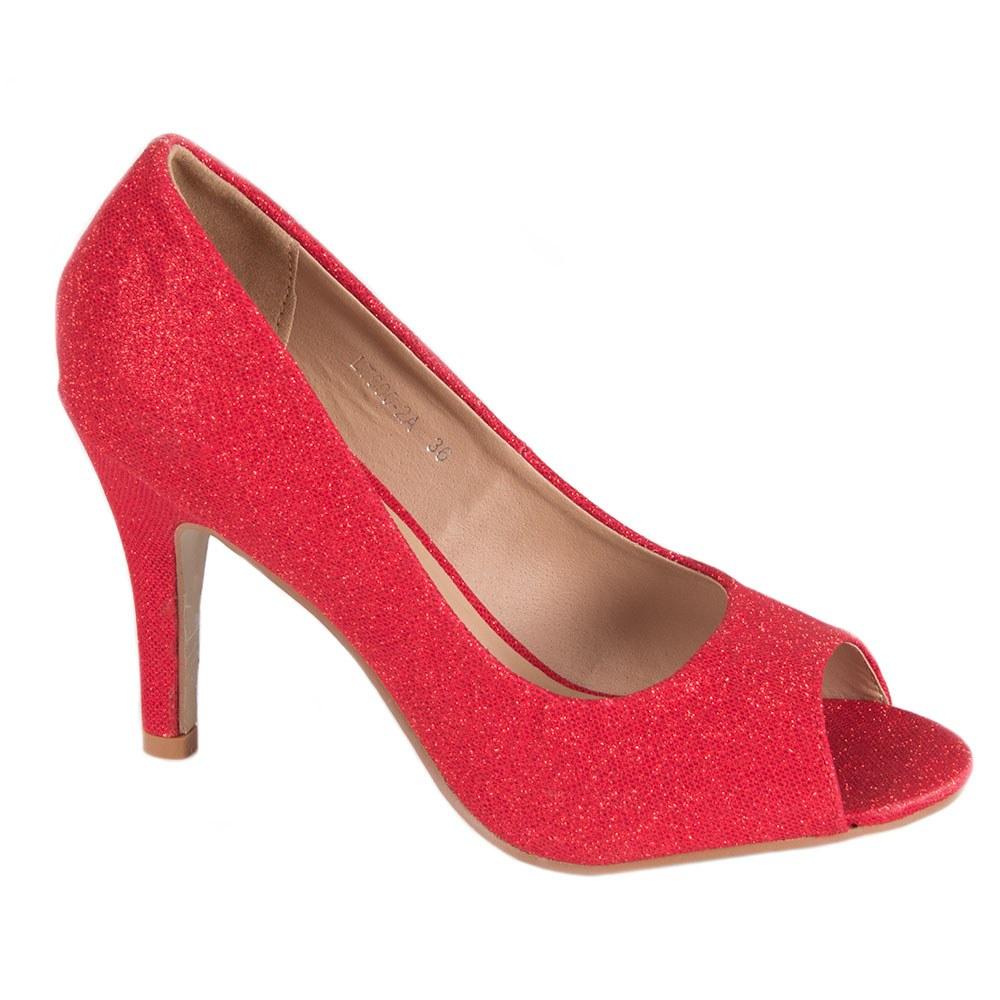 Pantofi dama rosii eleganti LT600-2A-R