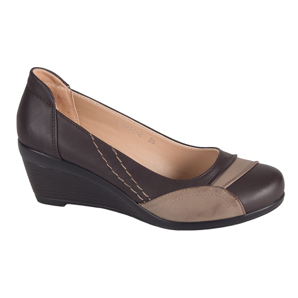 Pantofi dama maro cu talpa ortopedica D5951-2-C-T