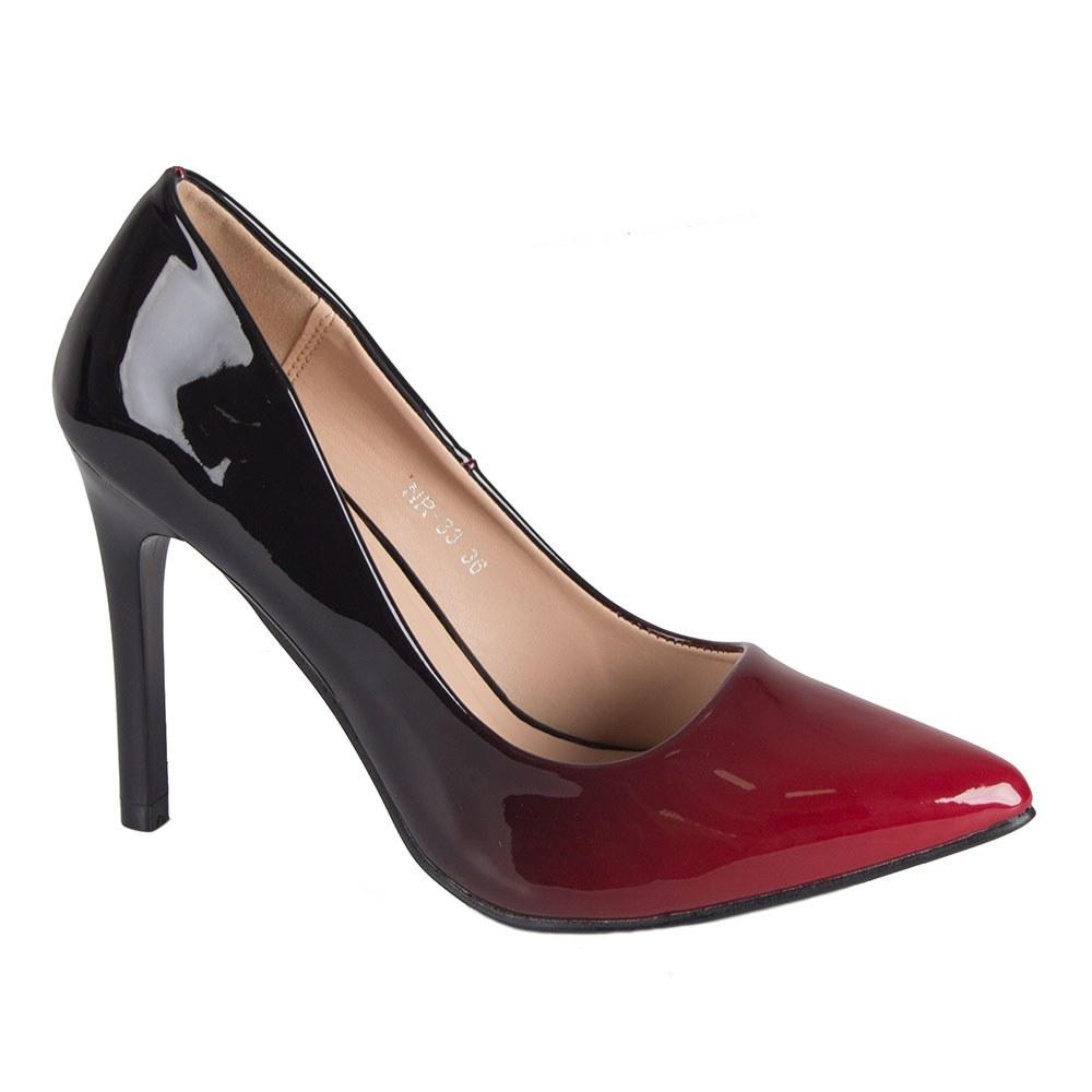 Pantofi dama lacuiti aspect degrade NR-33-R