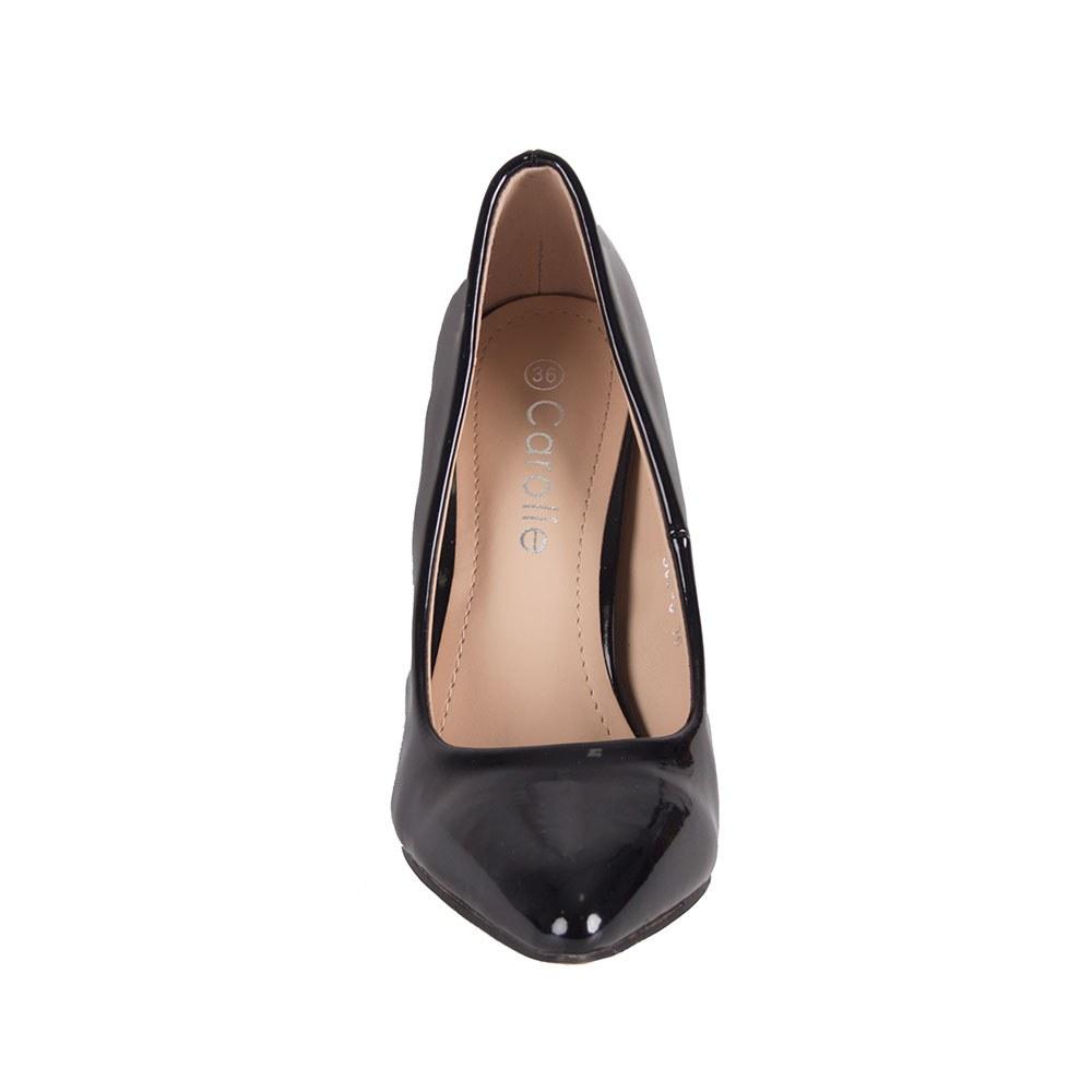 Pantofi dama negri lacuiti cu toc inalt 305-3-N