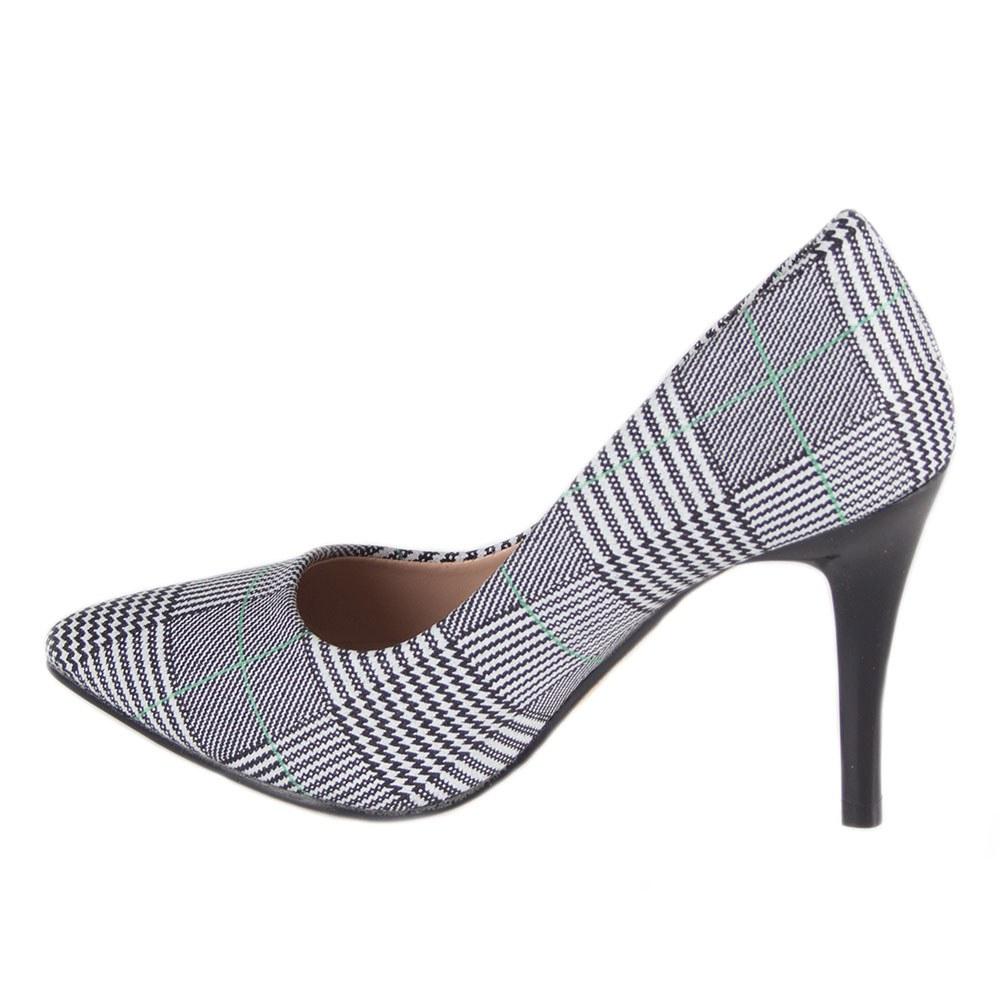 Pantofi de dama gri cu toc 608-18-L.G