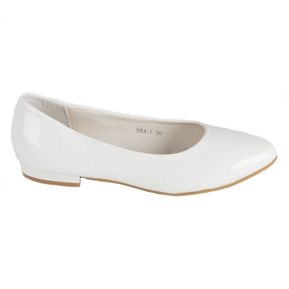 Balerini de dama albi lacuiti 564-1-A