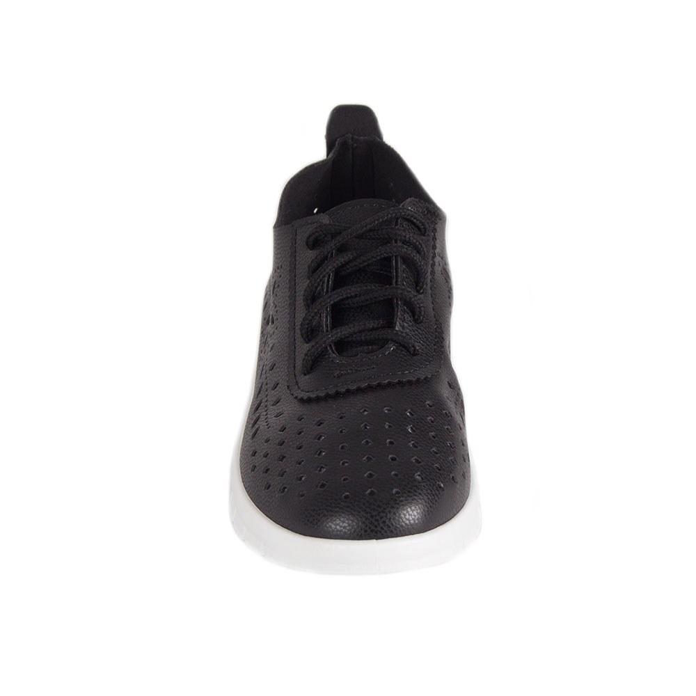 Pantofi dama casual cu siret si model perforat 68008-N