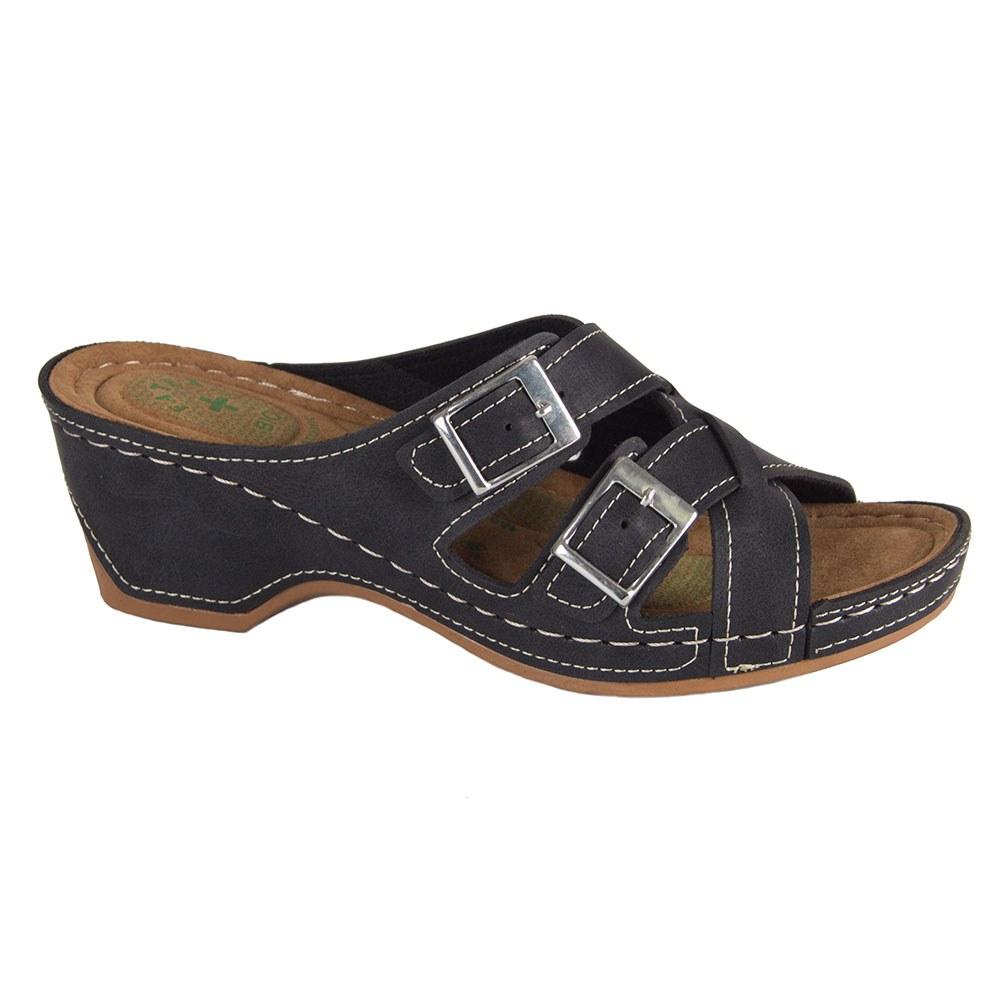 Papuci de dama negri cu talpa comoda FB-0308-N
