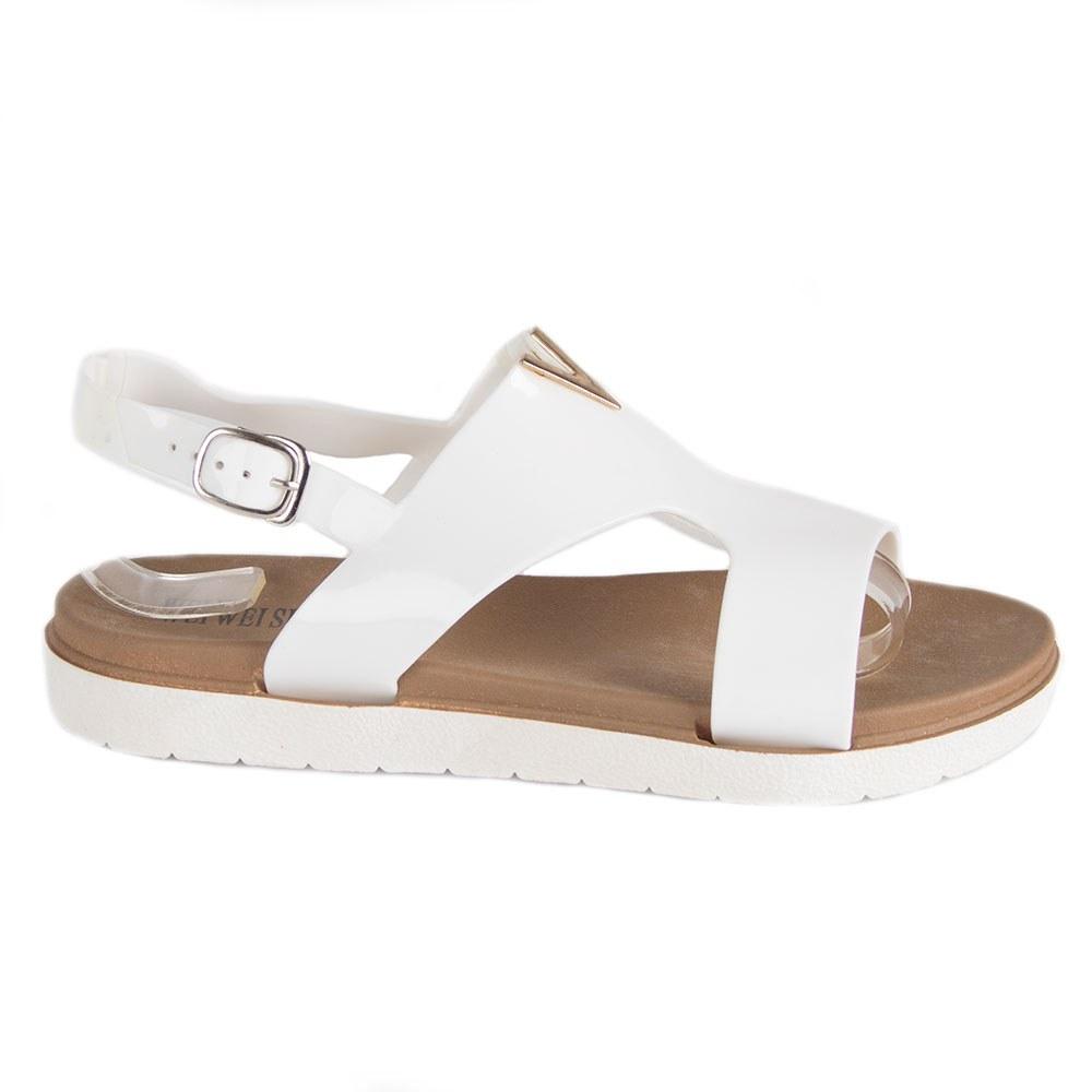 Sandale de dama albe din cauciuc HTD-328-A