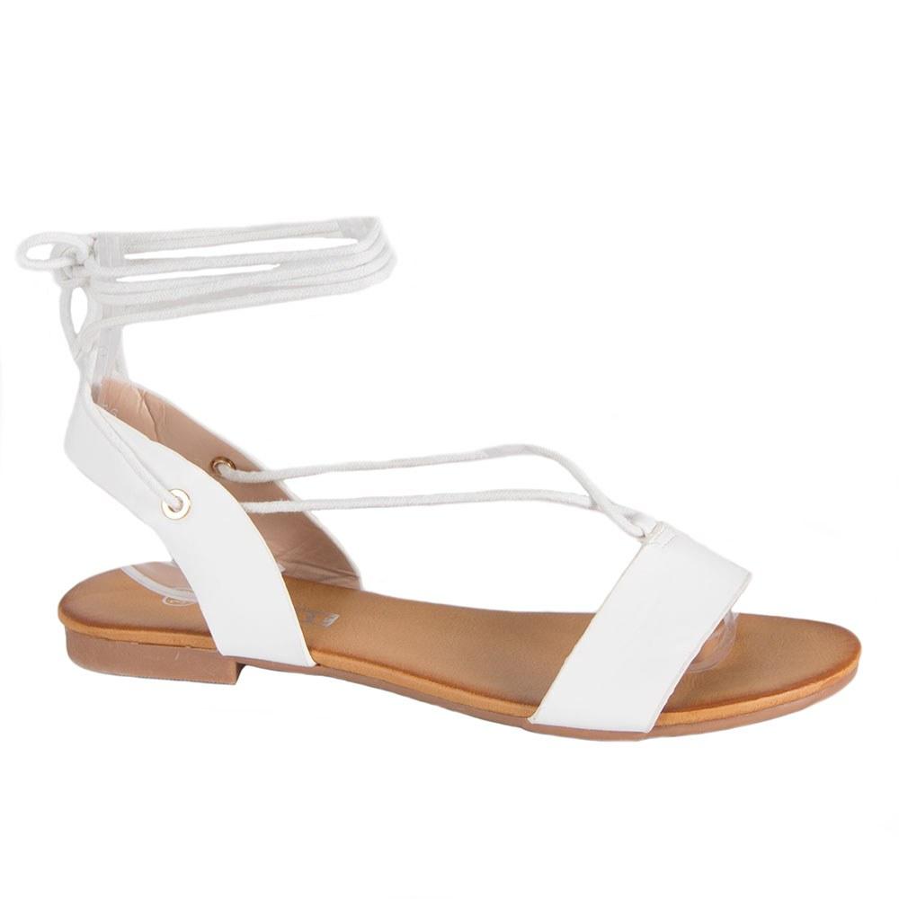 Sandale dama albe cu snur XQ-R6-W