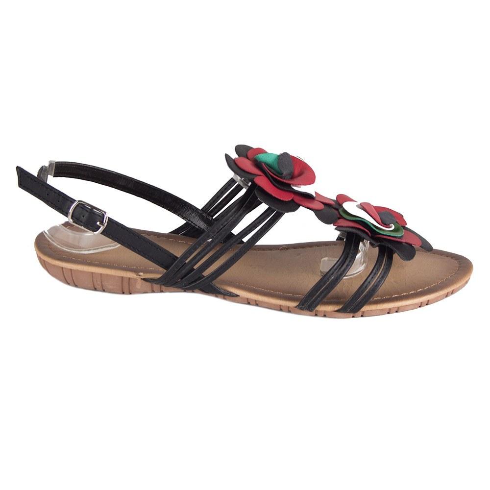 Sandale de dama negre cu barete 1-3040-N