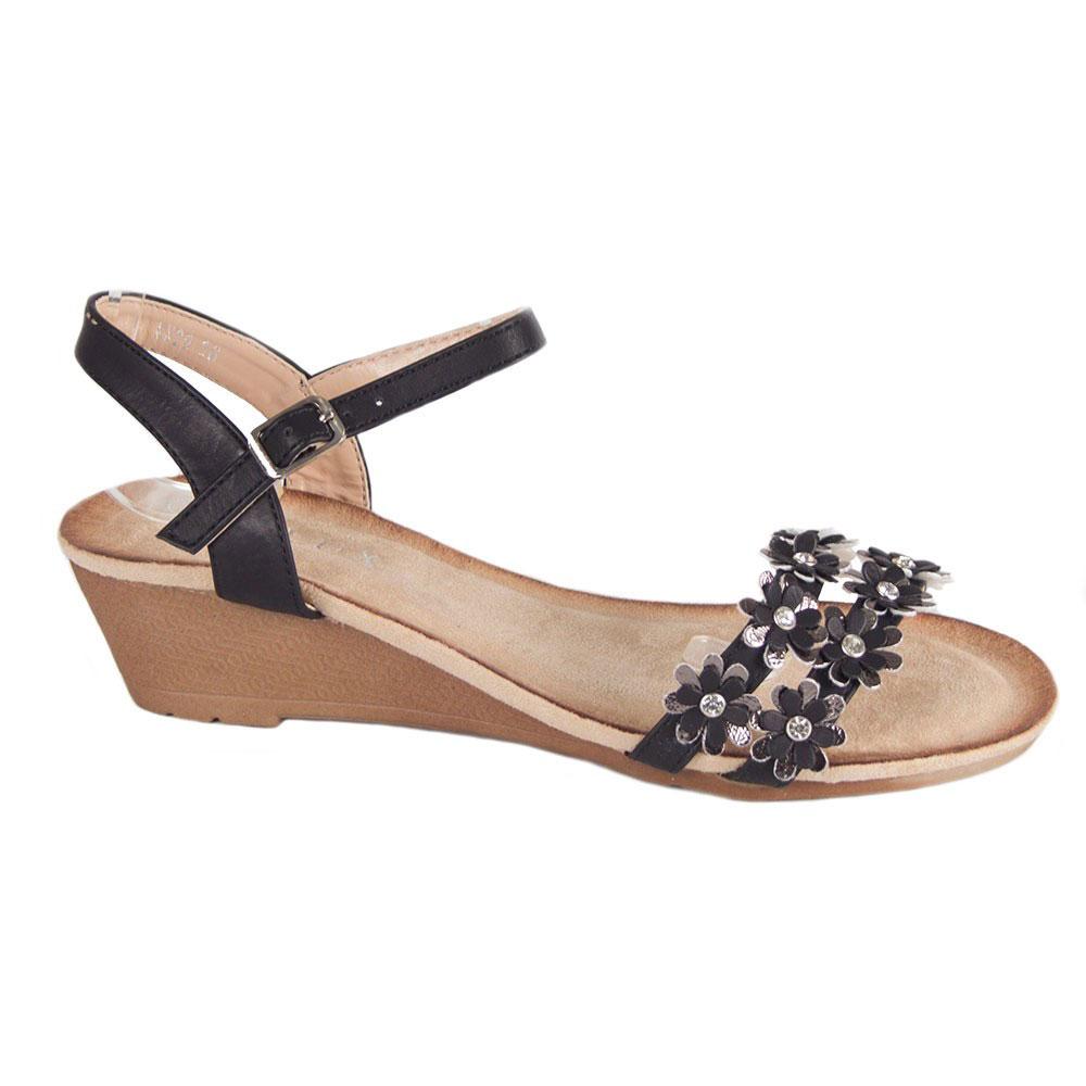 Sandale dama negre comode cu barete LX20-N