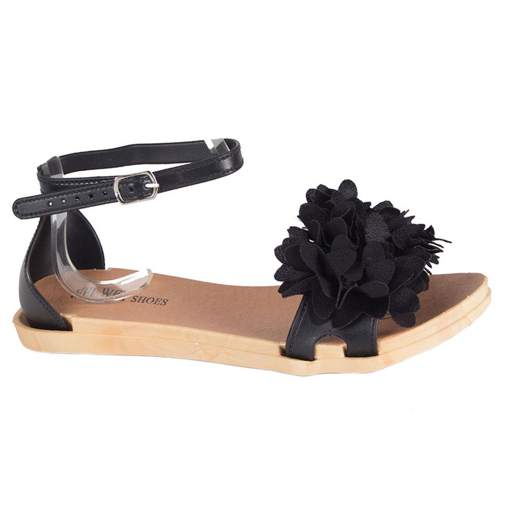 Sandale de dama negre din cauciuc MDR-1808-N