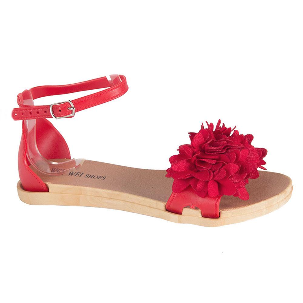 Sandale de dama rosii din cauciuc MDR-1808-R