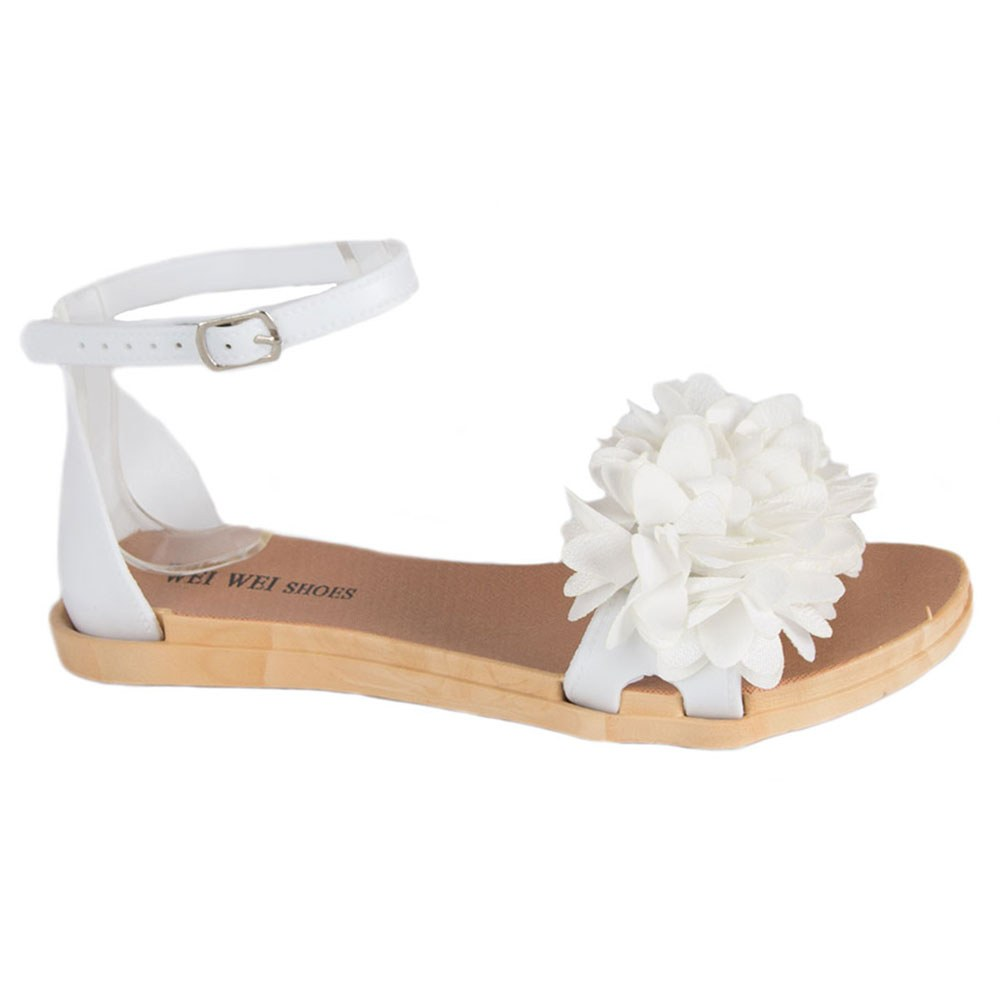 Sandale de dama albe din cauciuc MDR-1808-A