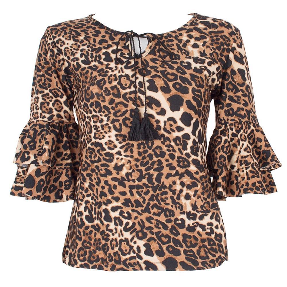 Bluza dama maro animal print FY4003-M