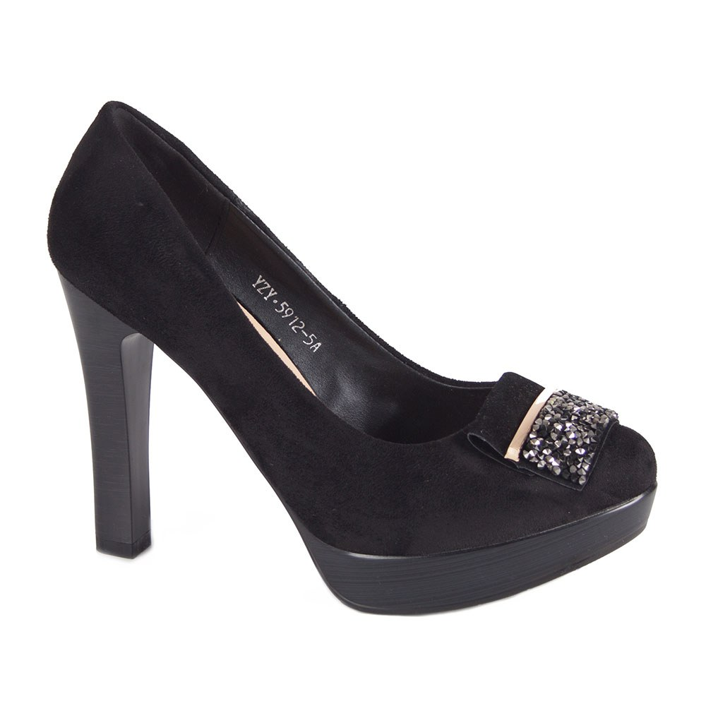 Pantofi dama negri cu platforma 5912-5A