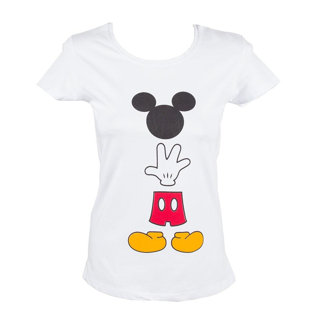 Tricou dama alb cu imprimeu colorat TR-806-A