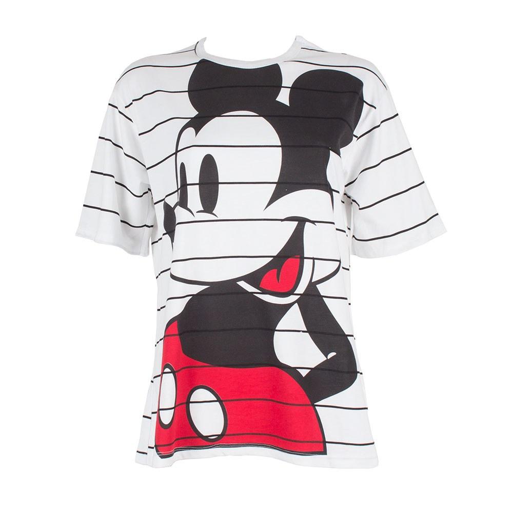 Tricou de dama alb imprimeu Mickey Mouse ZB-2022-7