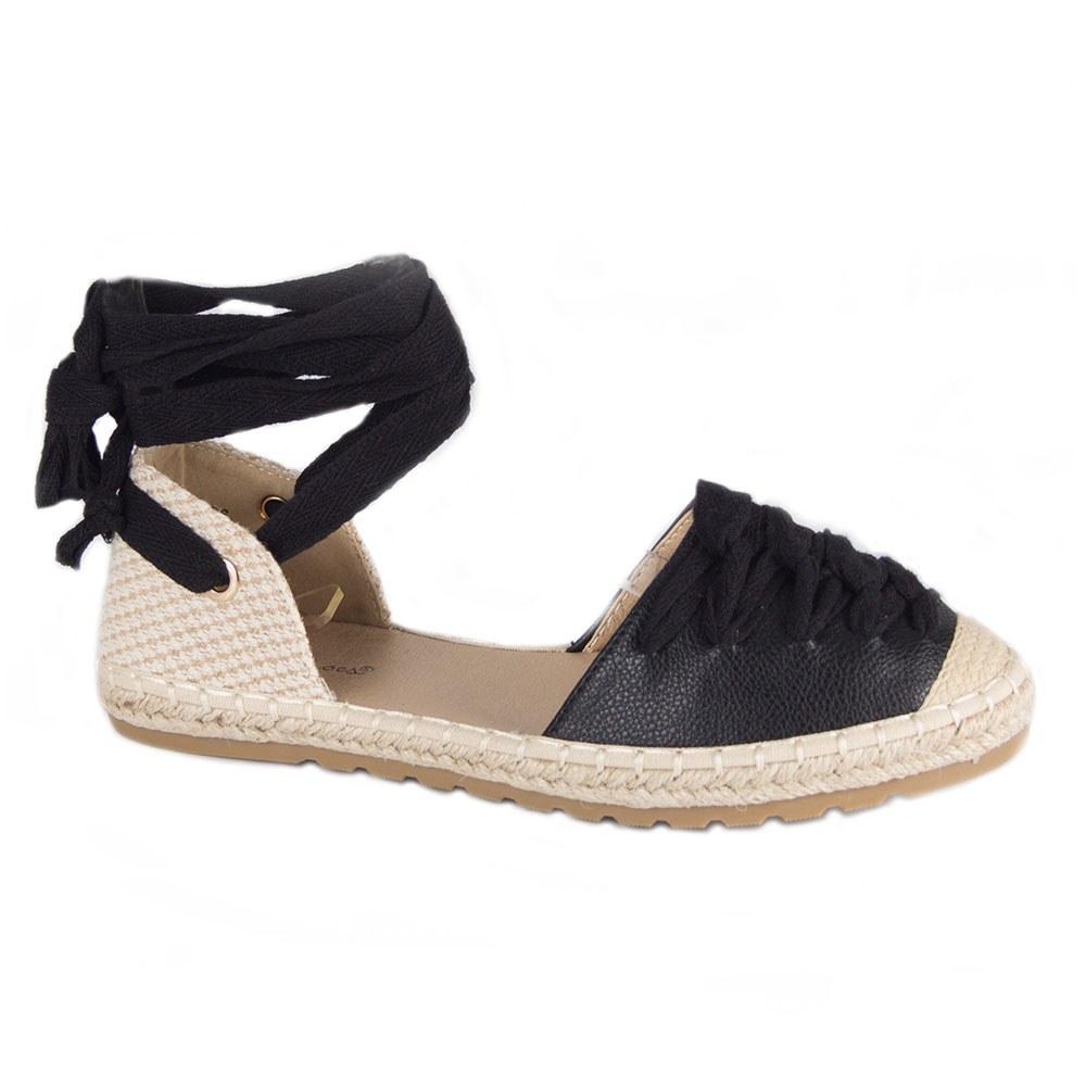 Sandale de dama negre cu talpa joasa HJ7035-N