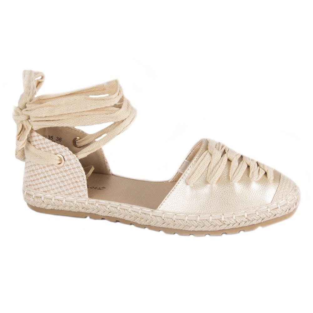 Sandale de dama cu snur pe glezna si talpa joasa HJ7035-G