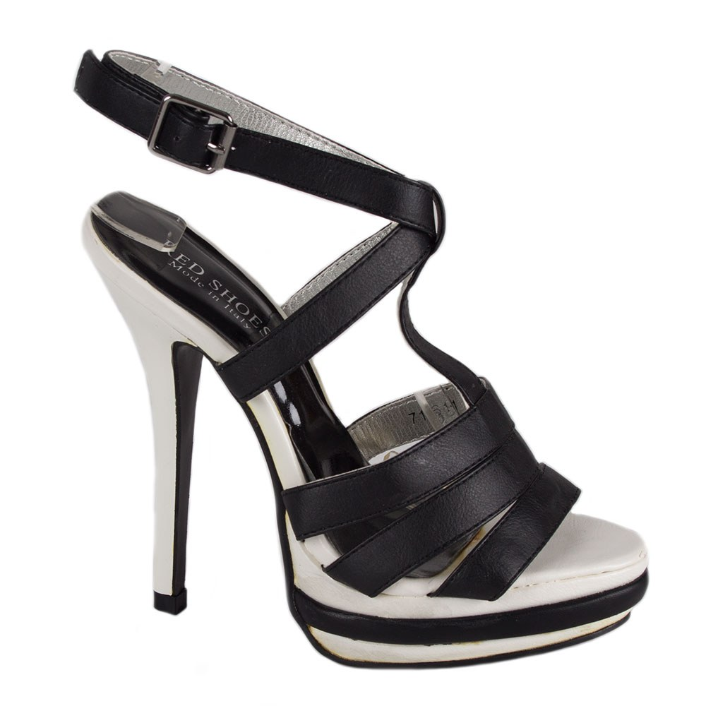Sandale dama negre cu platforma 7161-1N-O