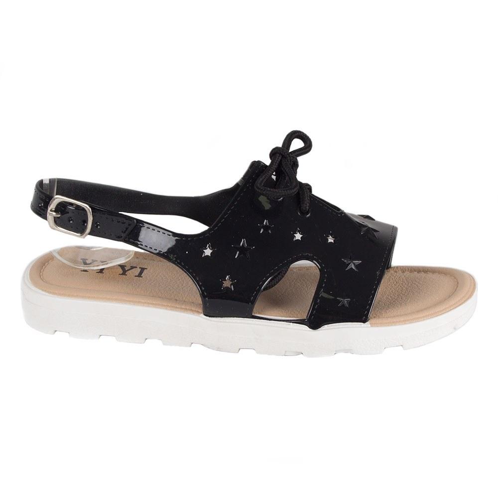 Sandale de dama negre din cauciuc GM-1602-N