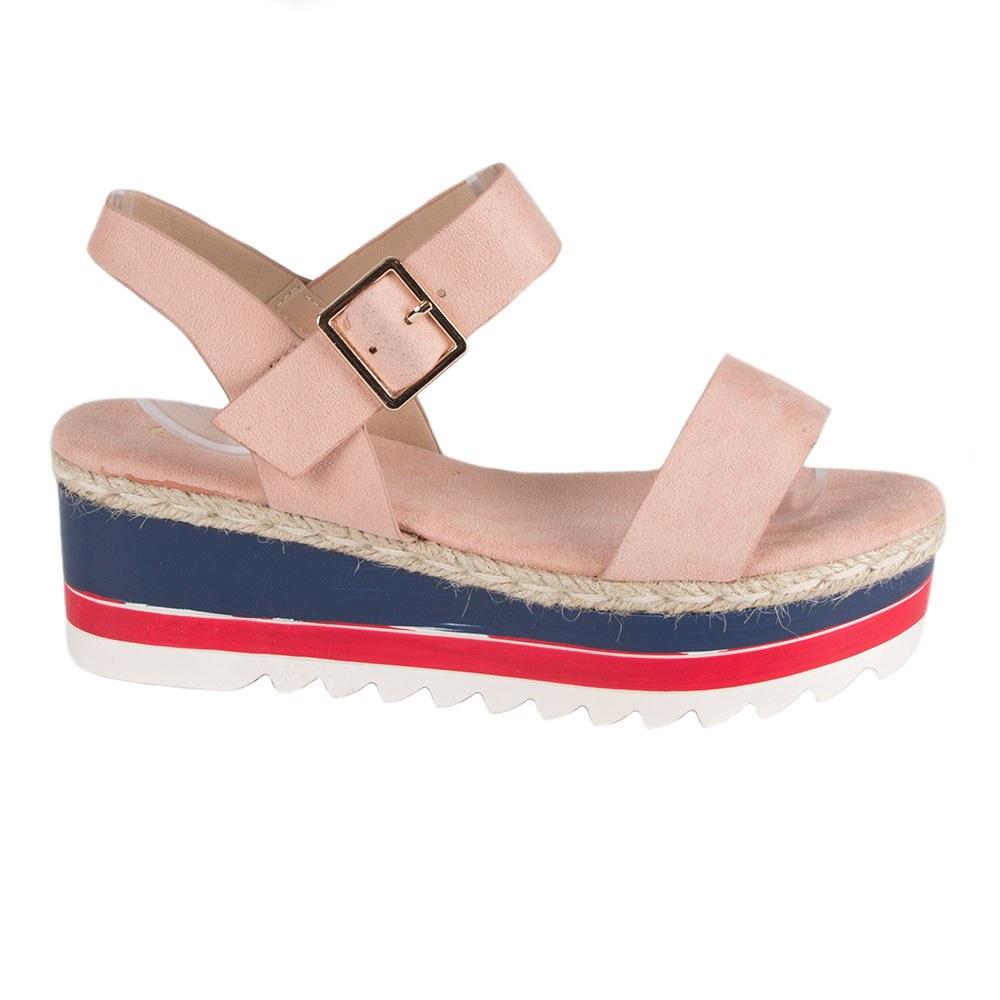 Sandale dama roz cu talpa groasa TCYS-8-R
