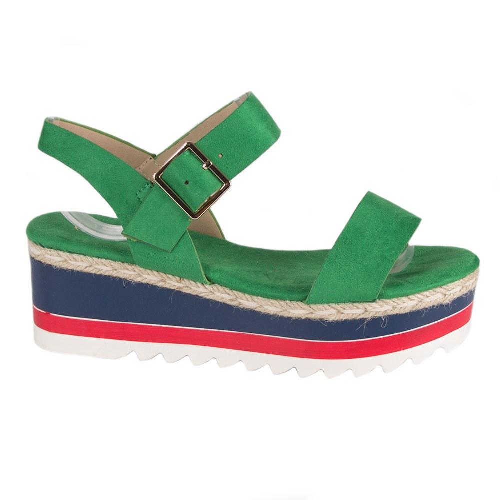 Sandale dama verzi cu talpa groasa TCYS-8-V