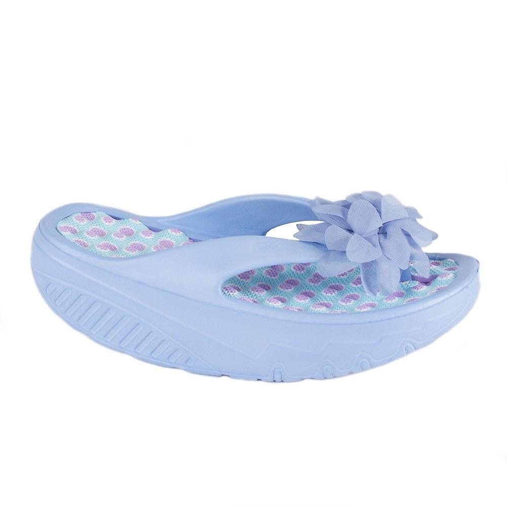 Papuci de dama din cauciuc cu floare A-129-A