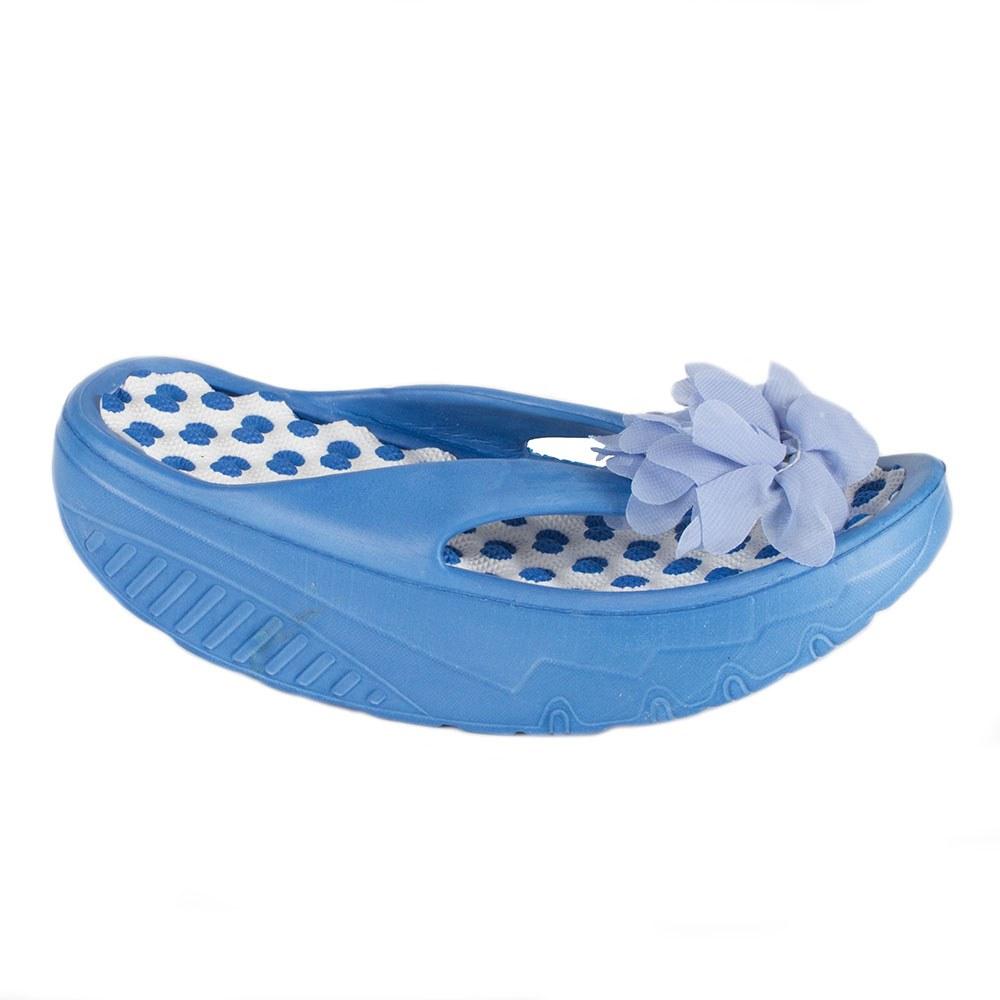 Papuci de dama din cauciuc cu floare A-130-A