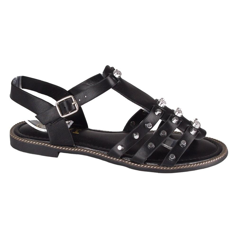 Sandale dama negre cu tinte si pietre K-109-N
