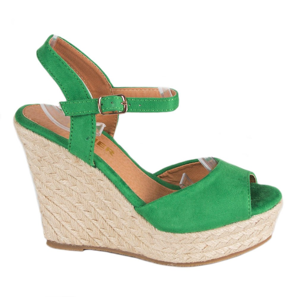 Sandale de dama verzi cu platforma TCYS-10-V